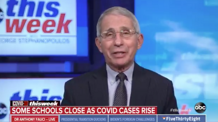 dr fauci close the bars and keep the schools open