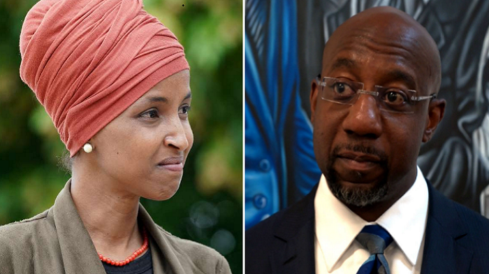 ilhan omar defends raphael warnocks claim that nobody can serve god and the military