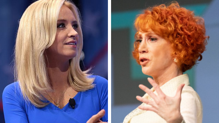 kathy griffin mocks kayleigh mcenany says press secretary will now do sexual favors for rudy giuliani