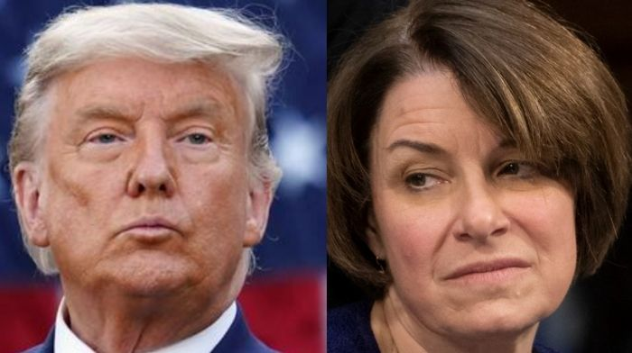 amy klobuchar accuses trump of burning down the house of justice with his pardons