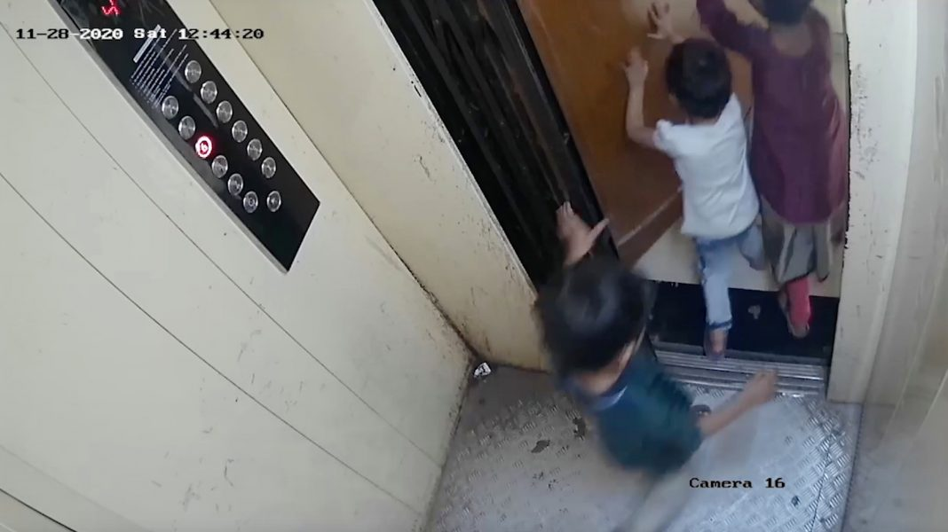 harrowing moment boy 5 is crushed to death by lift after gate shuts behind him while playing with his two sisters