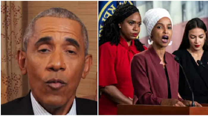 omar and squad fire back at obama after he criticizes defund the police slogan