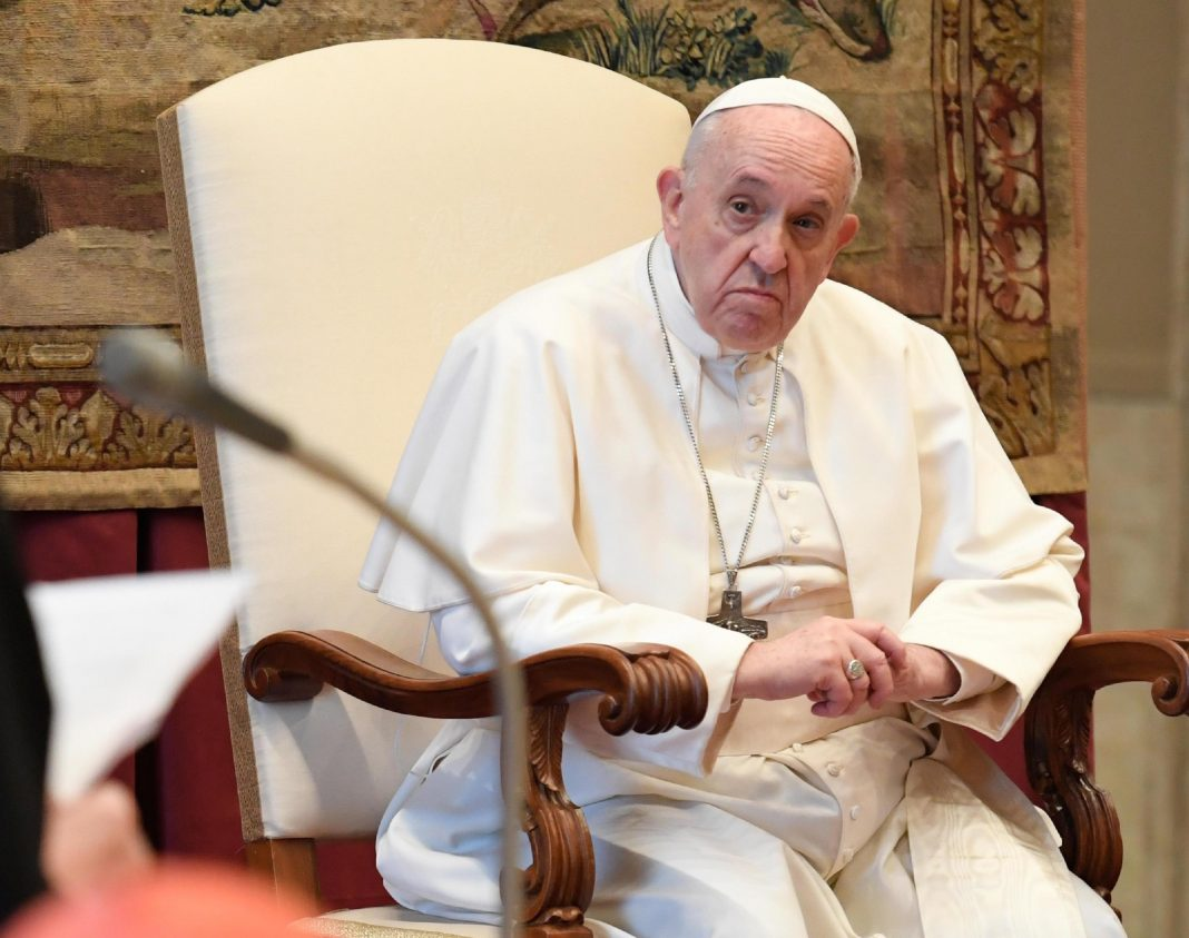 pope francis told to stop eating pasta and go on diet to cure his sore back