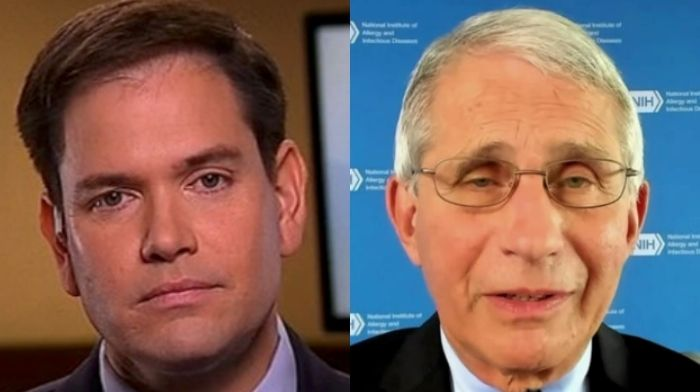 rubio attacks fauci again for misleading americans on masks and herd immunity i am appalled by his arrogance
