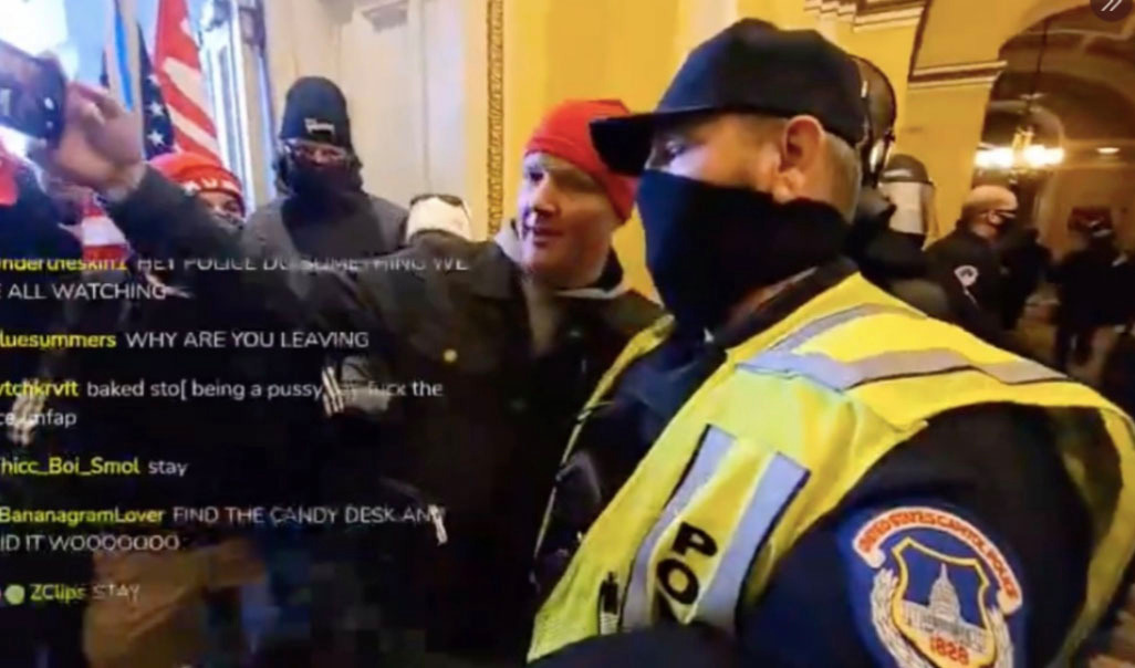 capitol riots 6 cops including one who took maga selfie are suspended 29 others being investigated after attack