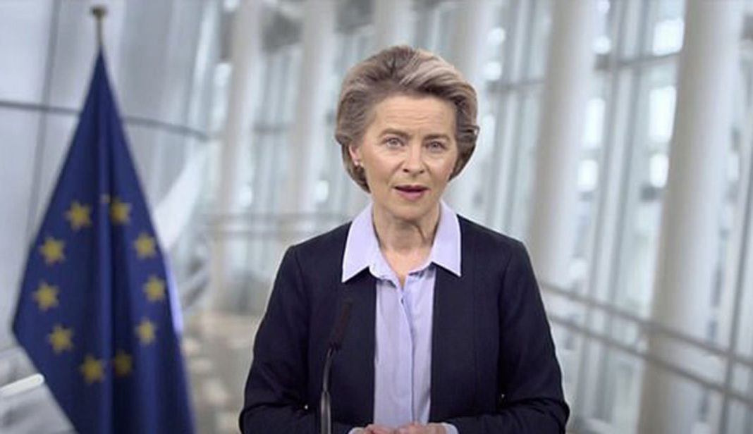 eu chief ursula von der leyen compares global covid vaccine row to the cold war space race