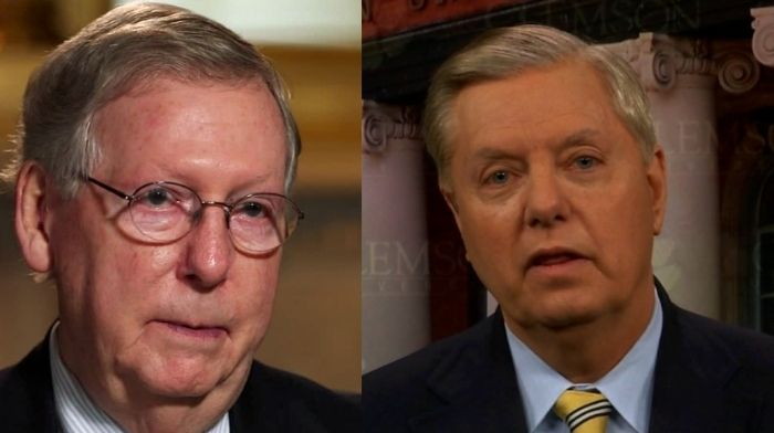 lindsey graham says mitch mcconnells anti trump speech may come back to bite republicans