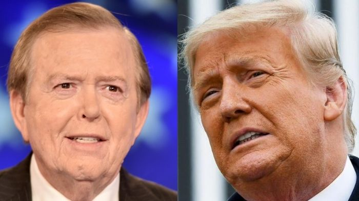 trump voices support for lou dobbs after fox cancels his show nobody loves america more