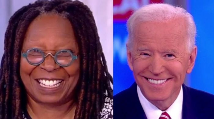 whoopi goldberg gushes over biden we finally have a president in office who we are honored to celebrate